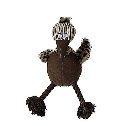 KAYI mascota masticar chirriantes pájaros feos juguetes aves de peluche con cuerda Legging novedad juguetes para el perro gato