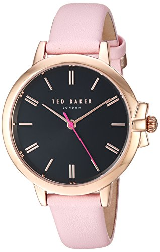 Ted Baker Women's 'RUTH' Quartz Stainless Steel and Leather Casual Watch, Color:Pink (Model: TE50267006)