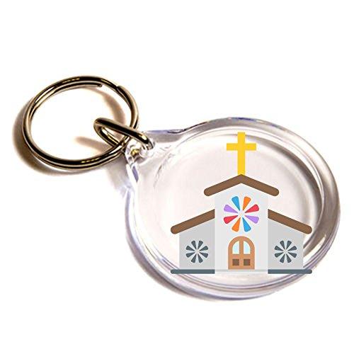church-emoji-key-ring