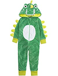 garçons Crocodile Combinaison Vert Crocodile 3D POLAIRE CAPUCHE Nouveauté Fantaisie Costume Âge 2-6yr ans chemise de nuit cadeau noël