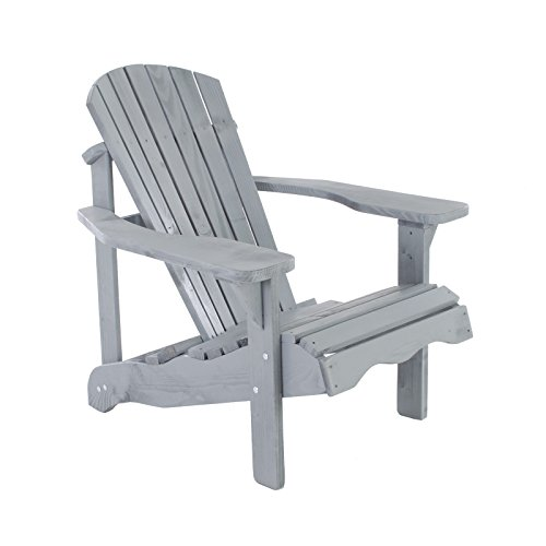 Gartenstuhl/Gartensessel Canadian Jumbo Adirondack Deck Chair aus Kiefernholz (Grau)
