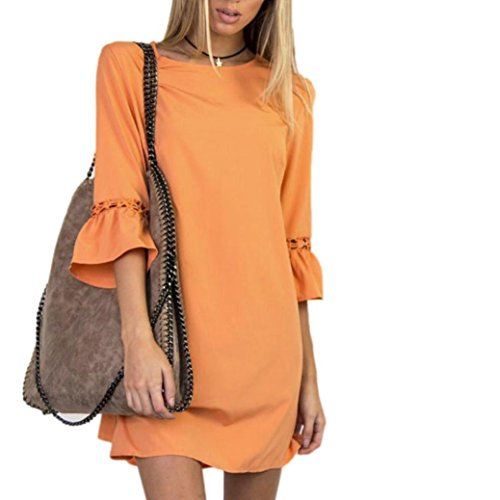 Amlaiworld Damen Frühling Sommer locker MiniKleid elegant halbe Ärmel Abendkleider Party Mode kurz...