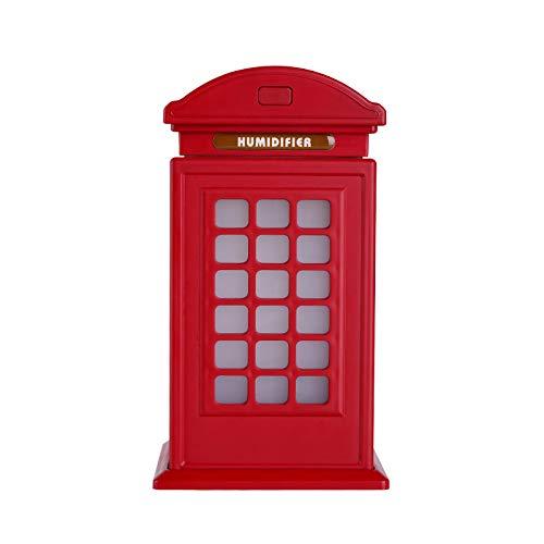 EgBert Usb Führte Neue Britische Art Telefonzelle Luftbefeuchter Gute Qualität Nebelmaschine Nacht Diffusor - ()