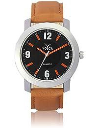 Xurious Enterprise Round Dial Analogue Black Dial Brown Leather Strape Fashion Wrist Watch For Men & Boys   XE_VL...
