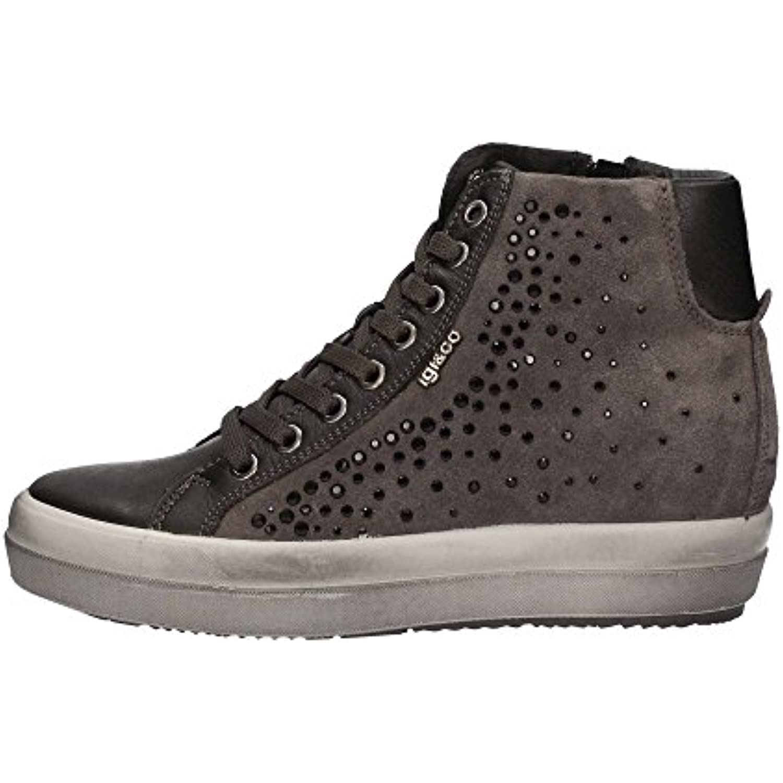 IGI CO 67523 espadrilles grises hautes chaussures chaussures chaussures femme strass zip liens - B01KKAXM2M - ad62f1