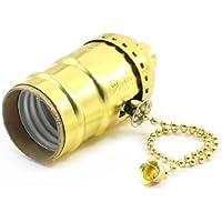 Sourcingmap - Oro azione tono cordoncino e26 portalampada adattatore presa