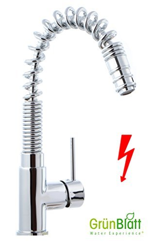 Low-Pressure Kitchen Tap with Removable Dish Rinser Kitchen Fitting Single Lever Mixer Tap with Shower Taps Shower Head Fittings