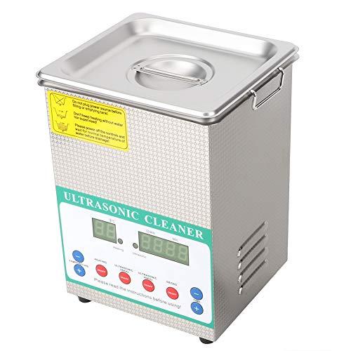 Mumusuki Professionelle Ultraschallreiniger 3.2L 120 Watt Mechanische Timing Heizung Mini Reiniger Reinigungsmaschine Für Reinigung Schmuck Gläser Uhr Zahnersatz Platine Dental Instrument(200-240V)