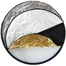 DynaSun WOS3001 Set Pannello Riflettente Professionale Multifunzione Pieghevole, Bianco/Nero/Argento/Oro