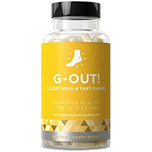 G-OUT! Purge - Uric Acid Cleanse Treatment & Healthy Kidney Support to Fight Flare-Ups, Pain, and Swelling - Celery Seed & Tart Cherry - 60 Vegetarian Soft Capsules