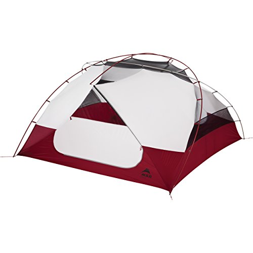 MSR Elixir 44Person (S) Grey, Red Group Tent-Camping Zelt (4Person (S), 4Person (S), Hard Frame, Detachable Ground Cloth, Group Tent, Backpacking)