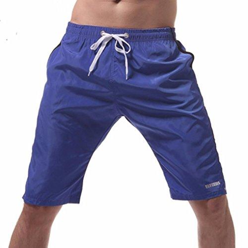 OVERDOSE Herren Shorts Badehose Schnelltrocknend Strandshorts Surfing Running Badeshorts Strandhosen(A-Blue,XL)