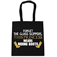 HippoWarehouse Forget the glass slippers, this princess wears riding boots Tote Shopping Gym Beach Bag 42cm x38cm, 10 litres