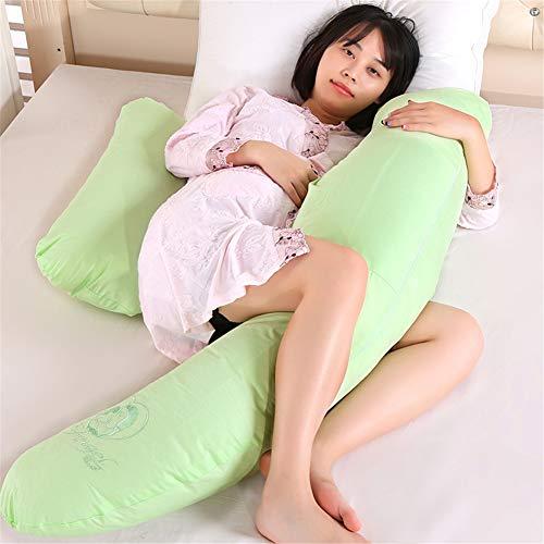 YSCCSY Körperkissen Kreative Weiche Schwangere Schlaf Unterstützung Körperkissen U-förmige Mutterschaft Baby Pflege Side Sleepers Kissen Bettwäsche,Green