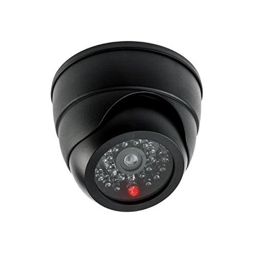 KOBERT GOODS 2 X Dome-Überwachsungskamera-Attrappe Style S3 Batteriebetriebener Dummy mit rot-Blinkender IR-LED Fake-Kamera für den Innen- und Außenbereich - mehr Sicherheit Zuhause/Home-Security -
