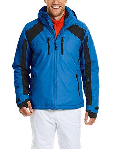 MAIER SPORTS dynamische Skijacke Aiden für Herren aus 100% PES, Funktionsjacke mit warmer Wattierung, atmungsaktiv, wasserdicht, abzippbare Kapuze, Brust- und Tickettasche
