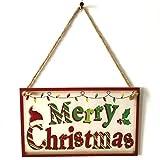 Harlls Tür hängen Zeichen Frohe Weihnachten aus Holz Plaque Board Tür Wand hängen Holz Zeichen Home Decoration Holzbrett - Bunt
