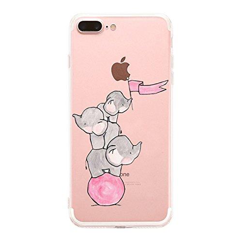 Caler iPhone 7 Plus iPhone 8 Plus Funda, Case Dibujos Diseño Creativo...