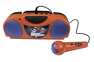 The Amazing Spider-man Radio Karaoke Toy - Portable Fm Radio with Microphone for Kids by MArvel