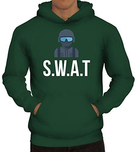 ShirtStreet Fasching Karneval Kapuzenpullover mit SWAT Kostüm 2 - Swat Halloween Kostüm