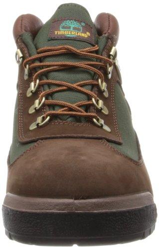 Timberland Field Boot Rund Leder Wanderstiefel Brn/Brn Grn/Vrt