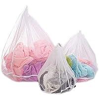 Lavandería Lavado Bolsa para la colada -3 piezas meideli resistente malla lavado lavandería bolsa blusa