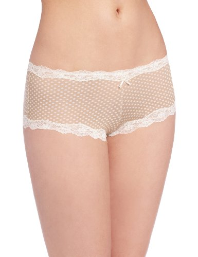 Maidenform Cheeky Modal Hipster with Lace, Mutande Donna, Taglia Unica - Darling Dot Beige