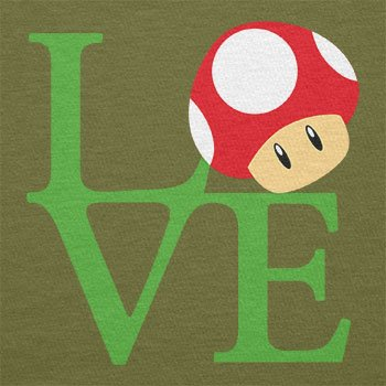 TEXLAB - Mushroom Love - Herren T-Shirt Oliv