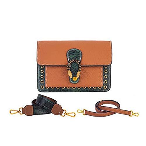 DHINGM Handtasche, One-Shoulder-Crossbody-Handtasche, kleine Goldkette, Wild Twill Snake Bag.Stilvoll und stilvoll, das Aussehen ist exquisit und großzügig (22 * 7...