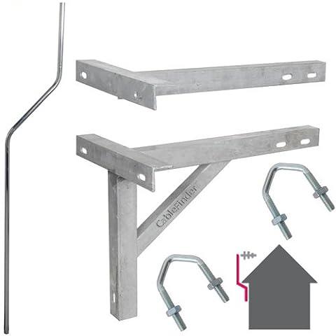 6ft/1,8m à mât & 30,5cm T & K Extérieur support galvanisé–Antenne TV/satellite Pole Kit d'installation de montage
