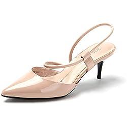 Frühling Punkt-Licht-Luft-Schuhe/Riemchen Stiletto Lackschuhe-C Fußlänge=23.3CM(9.2Inch)
