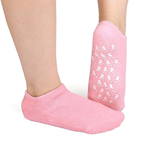 sourcingmap® 1 paire de chaussettes en gel de coton exfoliant