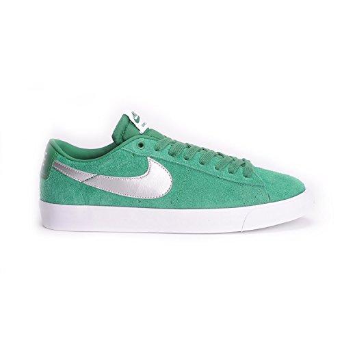 Nike Blazer Low GT, Scarpe da Skateboard Uomo, Talla Multicolore (Multicolore - Verde / Plateado / Gris / Blanco (Pn Grn/Mtllc Slvr-Wlf Gry-Whit))