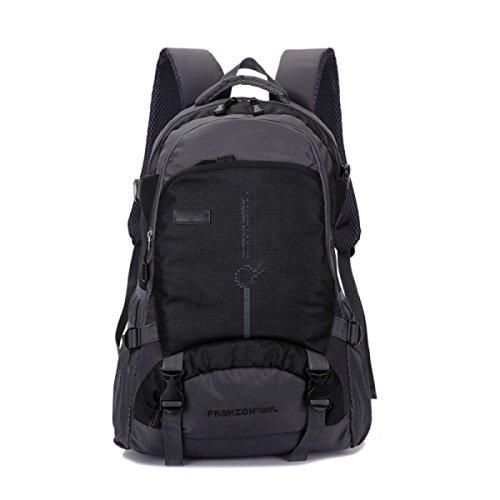 LQABW 45L Outdoor-Bergsteigen Männer Und Frauen-Schulter-Wasserdicht Atmungs Freizeit Reisen Rucksack Tasche Black