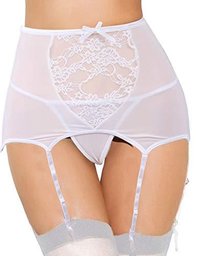 Ohyeahgirl - reggicalze - donna bianco 46 it = xxl