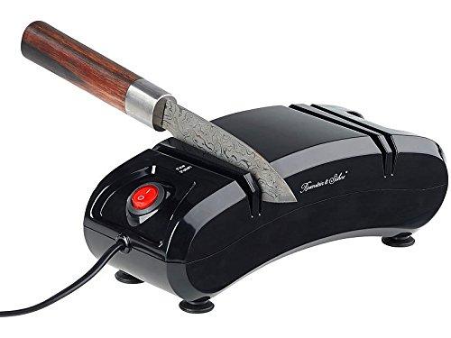 Aiguiseur électrique à couteaux 180 W, 2 niveaux, en céramique [Rosenstein & Söhne]