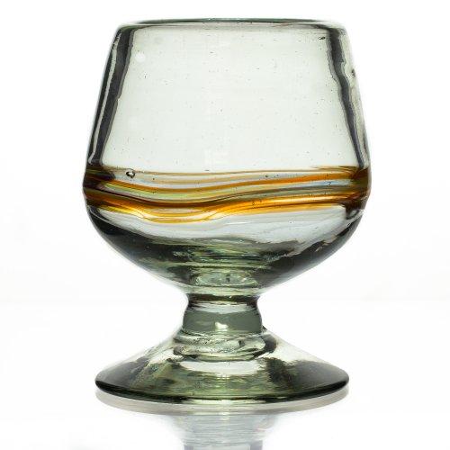 Cognacglas - Verschiedenfarbiger Streifen - Einzelnes Glas