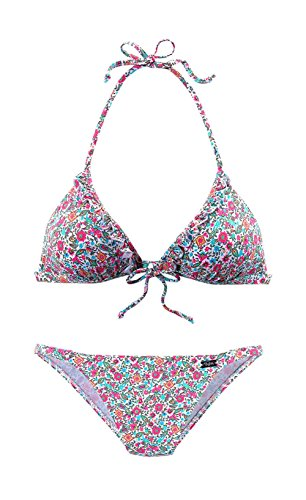 Buffalo Triangel-Bikini, Buffalo weiß Im trendigem Millefleurs-Druck 36 A/B-Cup