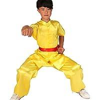 ZooBoo Uniform für Karate, Kampfsportanzug – Chinesische Kung-Fu-Wing Chun Trainingskleidung, mit Gürtel, für Kinder, Jungen, Mädchen