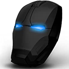 Iron Man 2.4G Wireless Gaming Mouse Silent Click 3 Adjustable DPI 800/1200/1600 for PC