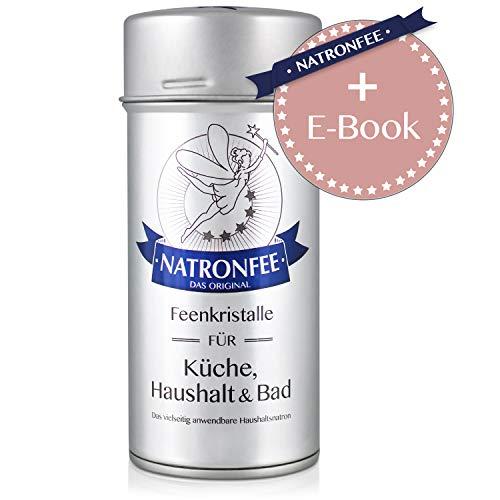 Natron - Original Natronfee Feenkristalle 250g Dose, Praktischer Streueinsatz, Baking Soda - Natron - Natriumhydrogencarbonat - Natriumbicarbonat - Backsoda - NaHCO3 - E500 ii