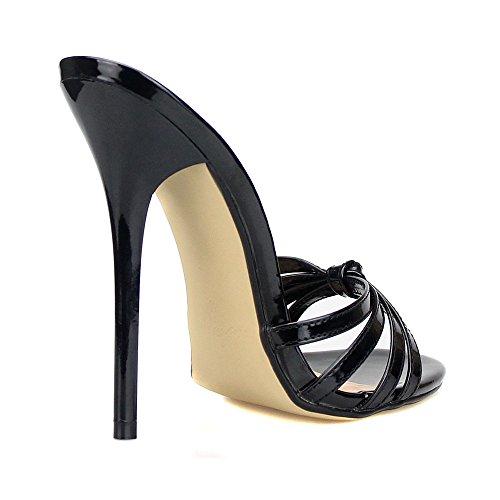 OCHENTA Damen Pantolette Stiletto High Heels Plateau Absatzhhe 13 cm ...
