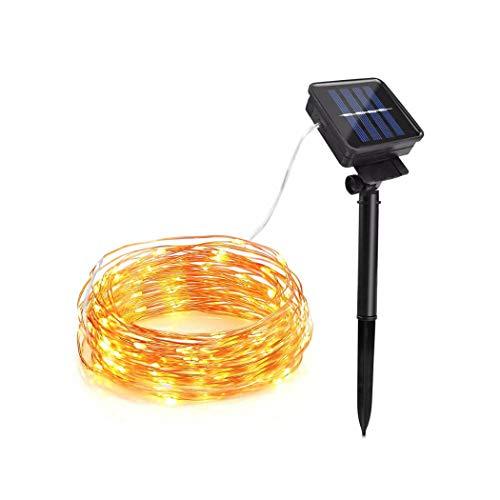 JGHR 10M 20M Solar Power Aussenleuchten LED-Garten-Rasen-Lampe Fee Kupferdraht LED-Schnur Dekorative Ferien Hochzeit Weihnachten