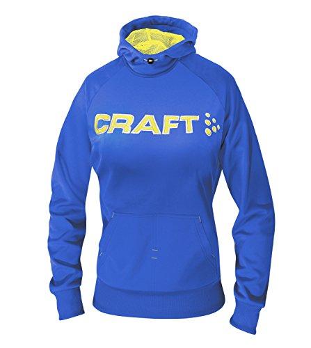 Craft Flex Hood felpa con cappuccio blu giallo, 190818-4336, swe/strike, X-Large