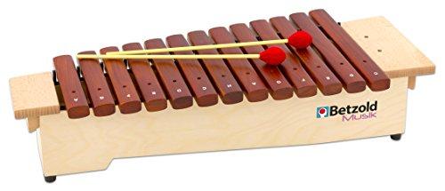 Betzold Musik 9943 - Sopran-Xylophon diatonisch c² bis a³, 16 Klangstäbe (mit fis², b² und fis³)