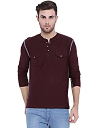 ARISE Regular Fit Round Neck Sports T-shirt For Men - Casual Men's Tees - Wine