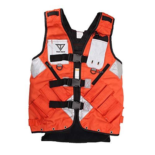 ChaRLes Elektriker Tischler Framer Plumber Craftman Bauwerkzeug Vest Pouch Bag - Orange