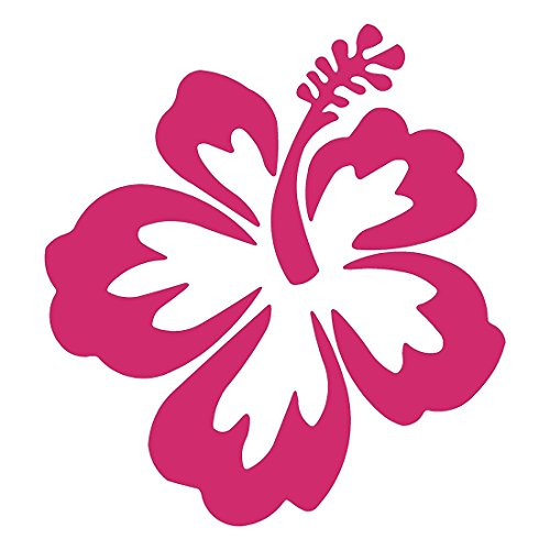 TOOGOO Hibiscus Blume-Hawaii -Auto, Lkw, Notebook, Vinyl Aufkleber Aufkleber # 1019 (4,5 Zoll, Rosa)