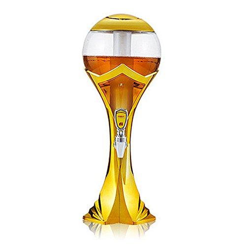 Bierspender - World Cup Design Portable Bierturm, 1.5L/2L/3L Mit Wechselnder Farbe Innen Geführt,Orange,1.5L (New Bier In York Bar)