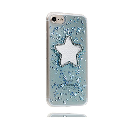 [ Carino Cartoon stelle ] iPhone 6 Custodia, case Paraurti dassorbimento con TPU Back-Anti-Scratch [Perfetta misura] Cover iPhone 6s Copertura Shell ( iPhone 6/6S 4.7) blu